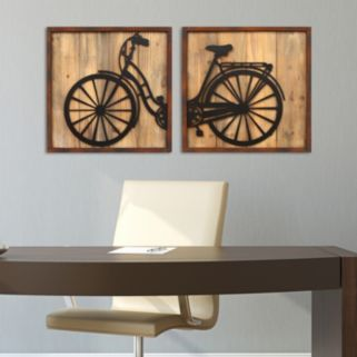Stratton Home Decor 2-piece Retro Bicycle Wall Decor Set