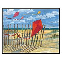 Art.com ''Beach Kites Red'' Wall Art