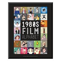 Art.com ''1980s Film Alphabet'' Wall Art