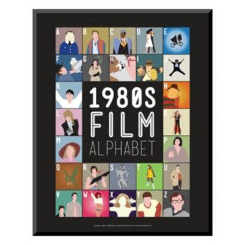 Art.com ''1980s Film Alphabet'' Wall Art