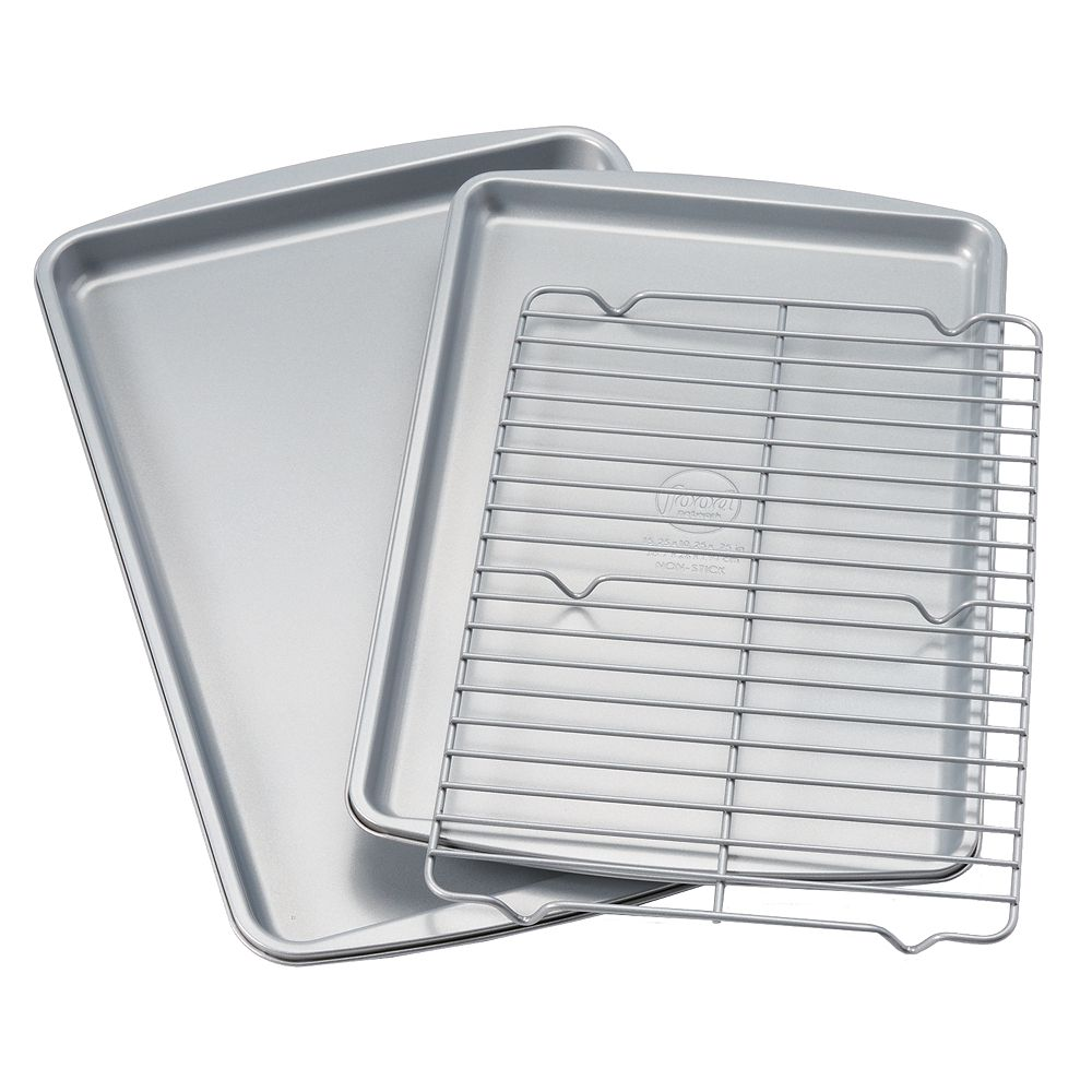 Food Network™ 3-pc. Nonstick Cookie Sheet Set with Cooling Rack