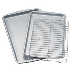 Food Network™ 3 pc Nonstick Cookie Sheet Set with Cooling Rack