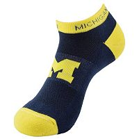 Youth Michigan Wolverines Spirit No-Show Socks