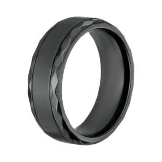 LYNXMen's Black Zirconium Geometric Band