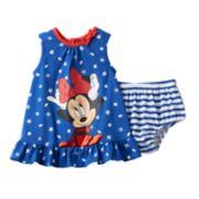 Disney's Minnie Mouse Starfish & Seashell Dress & Bloomers Set - Baby Girl