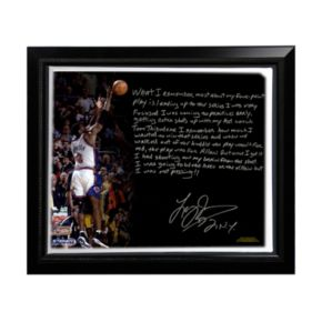 """Steiner Sports New York Knicks Larry Johnson 4-Point Play Facsimile 22"""" x 26"""" Framed Stretched Story Canvas"""