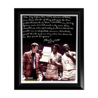"Steiner Sports Indiana Hoosiers Bob Knight Undefeated Season Facsimile 22"" x 26"" Framed Stretched Story Canvas"