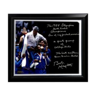 """Steiner Sports Indiana Hoosiers Bob Knight Winning Olympic Gold Facsimile 22"""" x 26"""" Framed Stretched Story Canvas"""