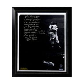 "Steiner Sports New York Yankees Don Larsen World Series Perfect Game Facsimile 22"" x 26"" Framed Stretched Story Canvas"