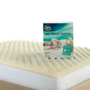 Serta 2 1\/2-in. Memory Foam Reversible Mattress Topper