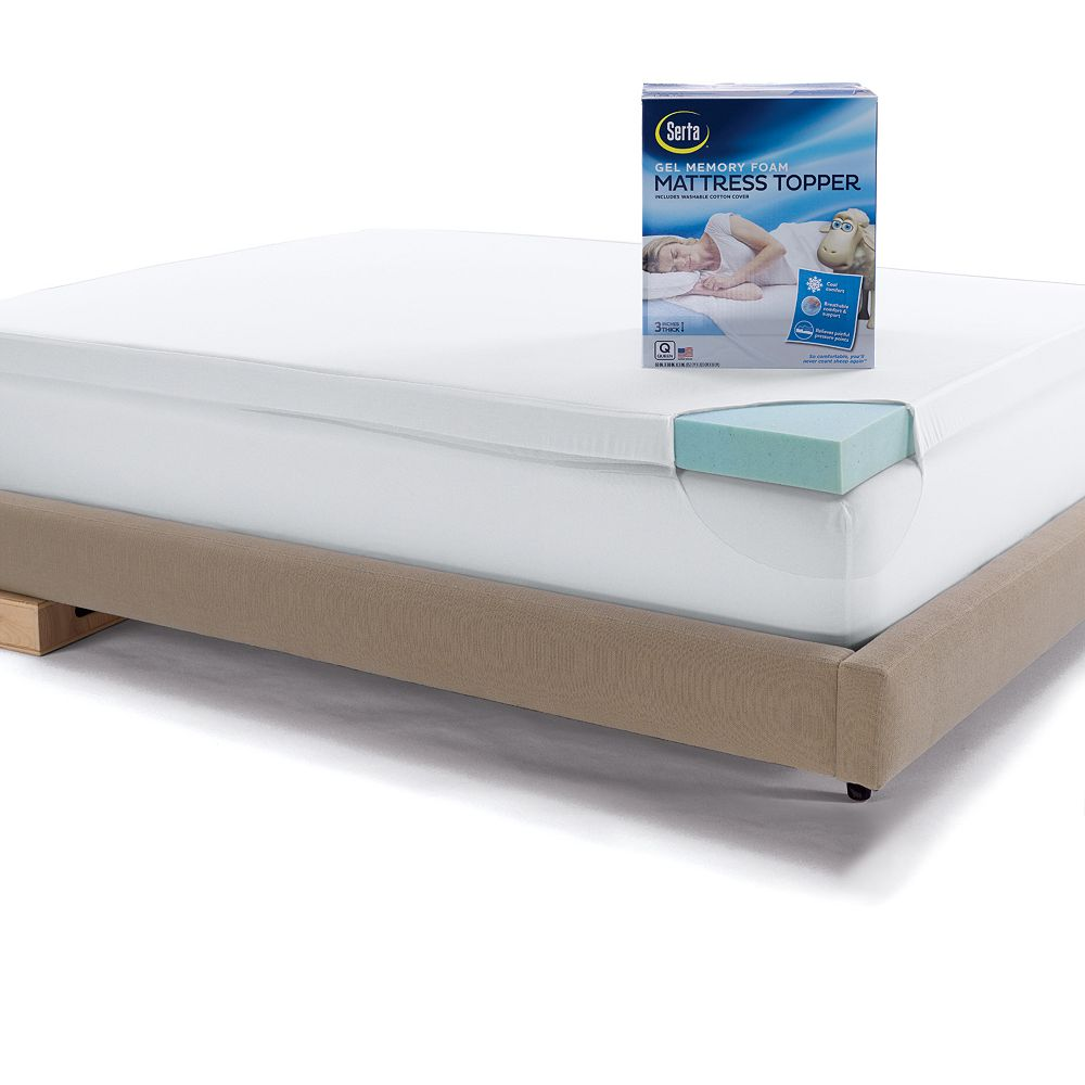 serta 3 in deep pocket gel memory foam mattress topper - Serta Bed Frame