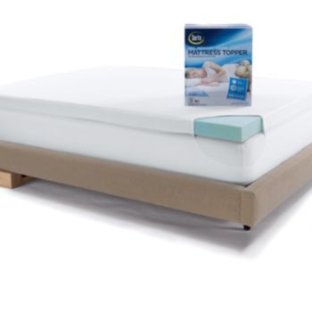 Serta 3-inch Deep-Pocket Gel Memory Foam Mattress Topper