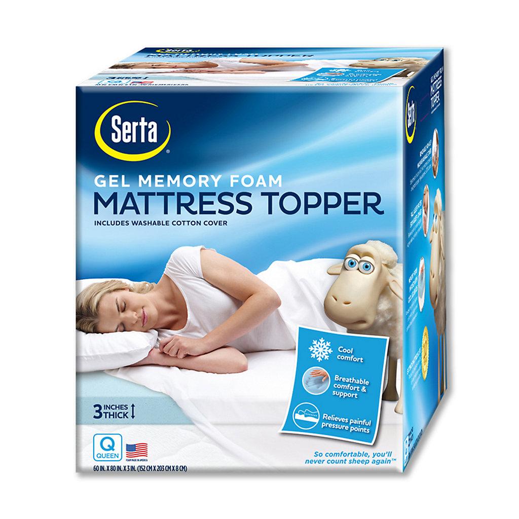 Serta 3-in. Deep-Pocket Gel Memory Foam Mattress Topper