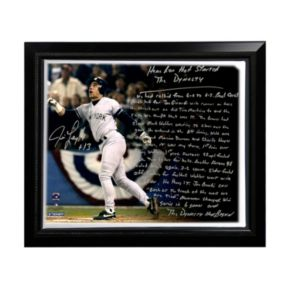 """Steiner Sports New York Yankees Jim Leyritz Dynasty Home Run Facsimile 22"""" x 26"""" Framed Stretched Story Canvas"""