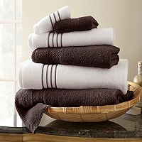Spring Bloom 6 pc Quick-Dry Egyptian Cotton Bath Towel Set