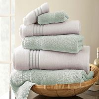 Spring Bloom 6-pc. Quick-Dry Egyptian Cotton Bath Towel Set