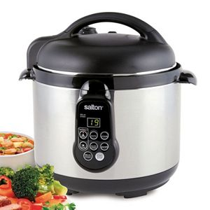 Salton 5-in-1 5-qt. Stainless Steel Electric Pressure Cooker