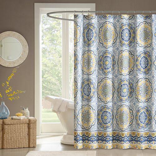 Madison Park Moraga Fabric Shower Curtain