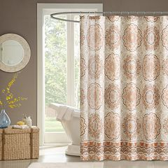 Madison Park Highland Fabric Shower Curtain