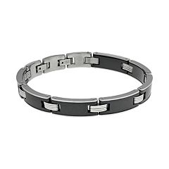 LYNX Stainless Steel & Black Ceramic Bracelet - Men