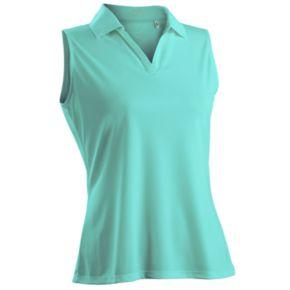 Nancy Lopez Luster Sleeveless Golf Polo - Women's
