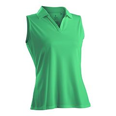 Nancy Lopez Luster Sleeveless Golf Polo - Women's