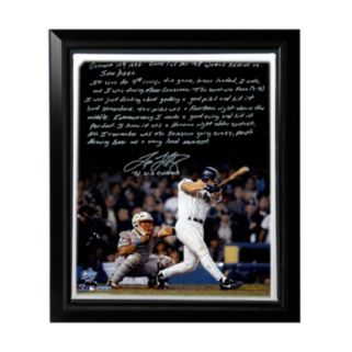 "Steiner Sports New York Yankees Tino Martinez 1998 World Series Grand Slam Facsimile 22"" x 26"" Framed Stretched Story Canvas"