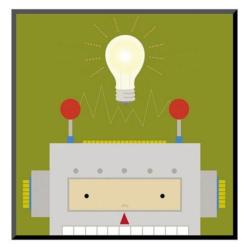 """Art.com """"Peek-a-Boo Heroes Robot"""" Wall Art"""
