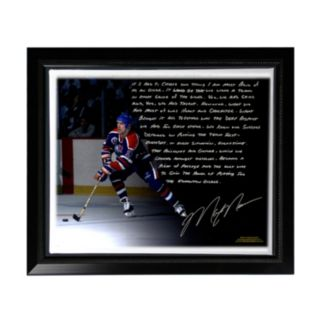 "Steiner Sports Edmonton Oilers Mark Messier Oilers Dynasty Facsimile 22"" x 26"" Framed Stretched Story Canvas"