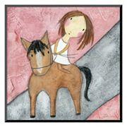 Art.com 'Pink Horse' Wall Art