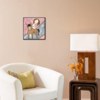 "Art.com ""Pink Horse"" Wall Art"