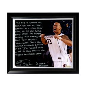 """Steiner Sports UConn Huskies Shabazz Napier NCAA Champs Facsimile 22"""" x 26"""" Framed Stretched Story Canvas"""