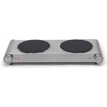 Salton Stainless Steel Electric Double Burner Buffet Server