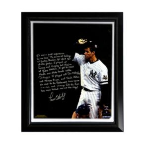 """Steiner Sports New York Yankees Paul O'Neill Playing in New York Facsimile 22"""" x 26"""" Framed Stretched Story Canvas"""
