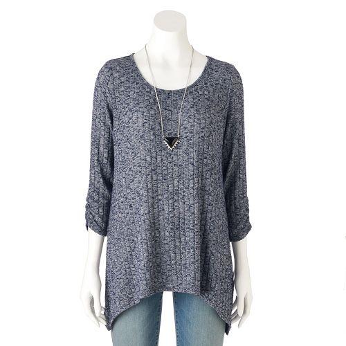 bc0a7d64f5d AB Studio Marled Scoopneck Sweater - Women s