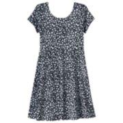 SO® Short Sleeve Skater Dress - Girls 7-16