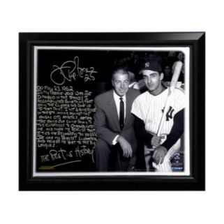 """Steiner Sports New York Yankees Joe Pepitone About Joe DiMaggio Facsimile 22"""" x 26"""" Framed Stretched Story Canvas"""