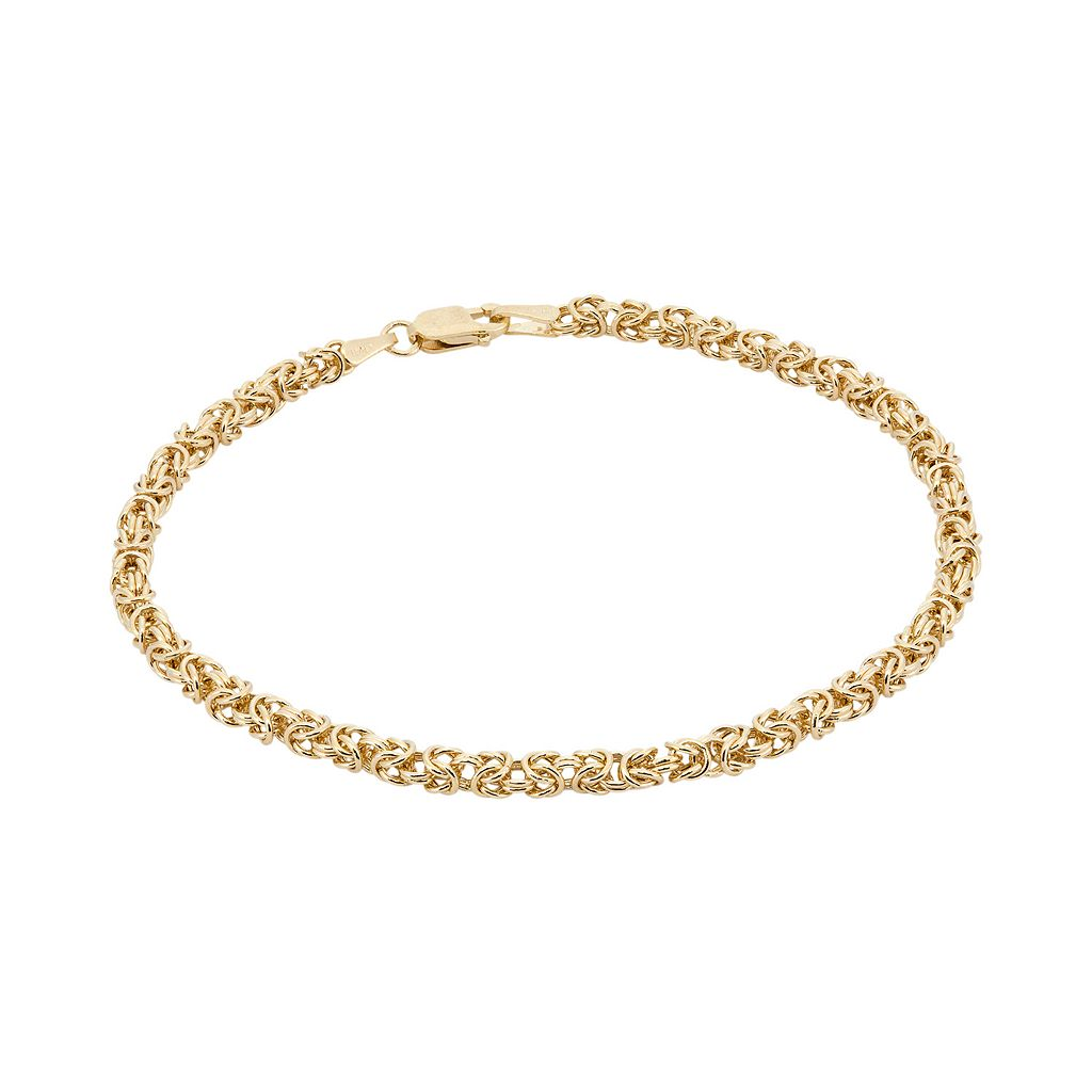 14k Gold Byzantine Bracelet