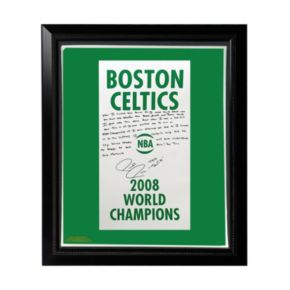 "Steiner Sports Boston Celtics Paul Pierce 2008 Champions Banner Facsimile 22"" x 26"" Framed Stretched Story Canvas"