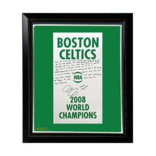 """Steiner Sports Boston Celtics Paul Pierce 2008 Champions Banner Facsimile 22"""" x 26"""" Framed Stretched Story Canvas"""