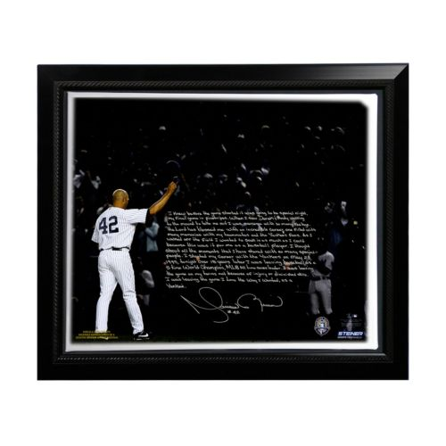 Steiner Sports New York Yankees Mariano Rivera Last Game in Pinstripes Facsimile 22 x 26 Framed St...