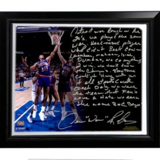 "Steiner Sports Detroit Pistons Dennis Rodman The Bad Boys Facsimile 22"" x 26"" Framed Stretched Story Canvas"