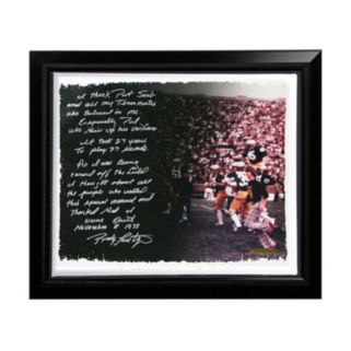 "Steiner Sports Notre Dame Fighting Irish Rudy Ruettiger Never Give Up Facsimile 22"" x 26"" Framed Stretched Story Canvas"