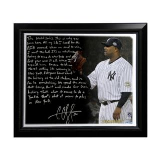 "Steiner Sports New York Yankees CC Sabathia Winning in New York Facsimile 22"" x 26"" Framed Stretched Story Canvas"