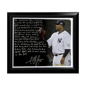 Steiner Sports New York Yankees CC Sabathia Winning in New York Facsimile 22