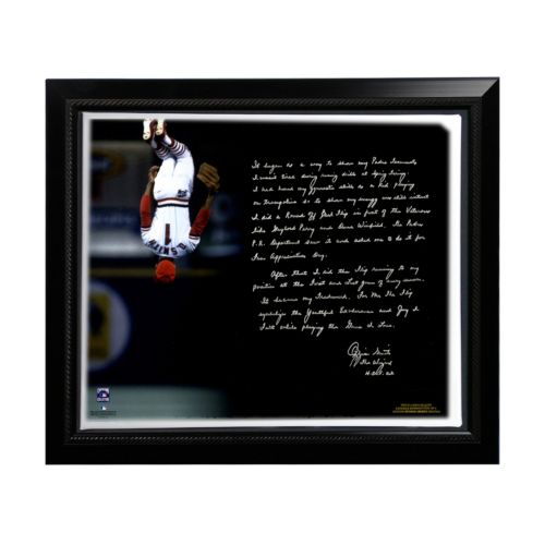 Steiner Sports St. Louis Cardinals Ozzie Smith Flip Facsimile 22″ x 26″ Framed Stretched Story Canvas