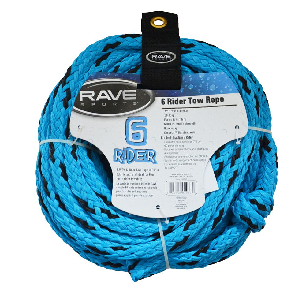 RAVE Sports 6-Rider Towable Tube Tow Rope