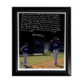 """Steiner Sports New York Mets Mel Stottlemyre Coaching Doc Facsimile 22"""" x 26"""" Framed Stretched Story Canvas"""