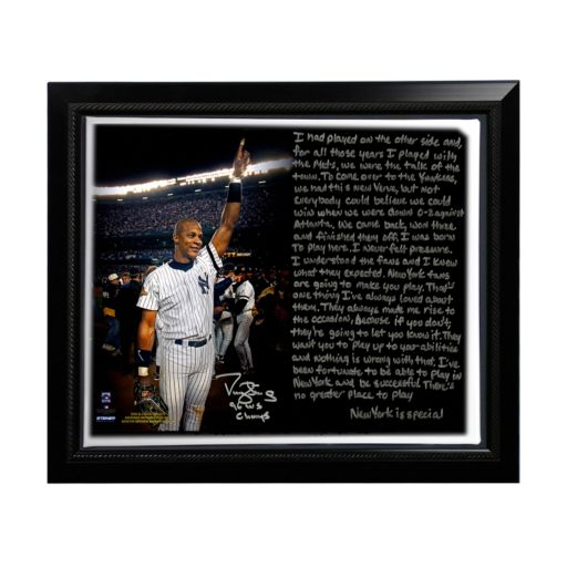 """Steiner Sports New York Yankees Darryl Strawberry 1996 World Series Facsimile 22"""" x 26"""" Framed Stretched Story Canvas"""