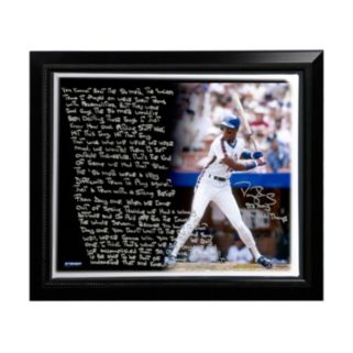 """Steiner Sports New York Mets Darryl Strawberry 1986 Mets Facsimile 22"""" x 26"""" Framed Stretched Story Canvas"""